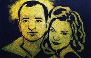 Шоу Портрет золотой пыли на ваш праздник
